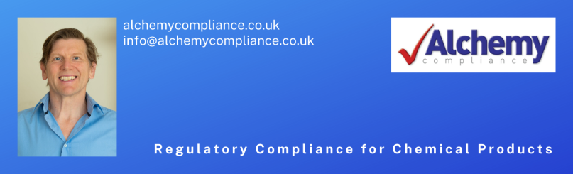 Alchemy Compliance banner, including logo and picture of Dr Mel Cooke.